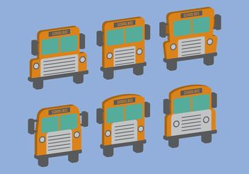 Isometric School Bus Vectors - vector gratuit #161721