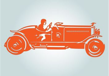 Old Convertible - vector gratuit #161791
