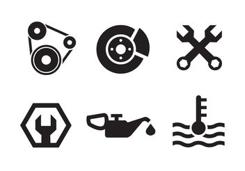 Piston Engine Icon Collection - vector gratuit #161801