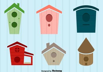 Bird House Vector Illustrations - Kostenloses vector #161811