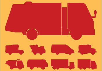 Truck Silhouettes Set - Kostenloses vector #161821