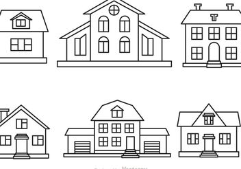 Vector House Outline Set - vector gratuit #161851