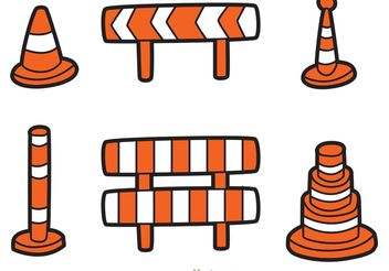 Road Traffic Cartoon Icons Vector - Free vector #161871