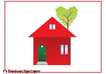 Eco House Clip Art - vector gratuit #161901