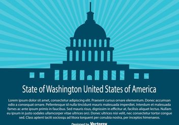 Wasington State Illustration - Free vector #161911