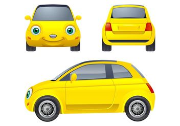 Cartoon Car Character - бесплатный vector #161921