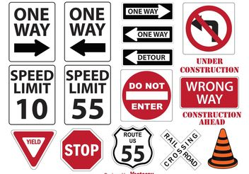 Miscellaneous Street Signs - vector gratuit #161981