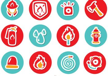 Circle Icons Fireman Vector Pack - Free vector #161991