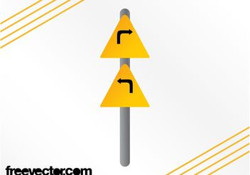 Turns Sign Graphics - vector gratuit #162031