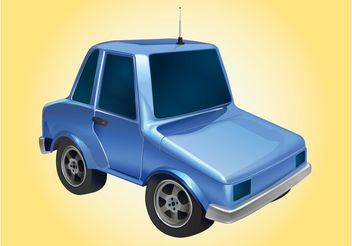 Blue Car Graphics - vector gratuit #162061