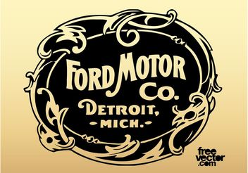 Old Ford Motor Company Logo - vector gratuit #162141