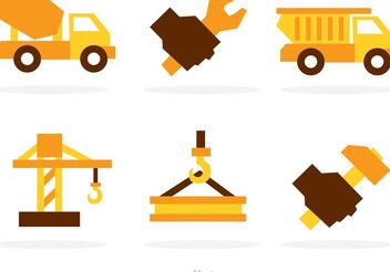 Heavy Construction Vector Icons - бесплатный vector #162181