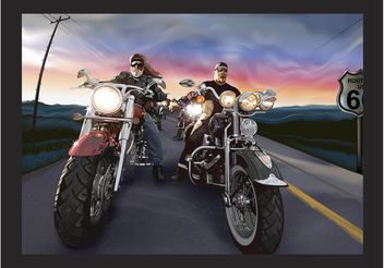 Bikers Vector - vector #162221 gratis