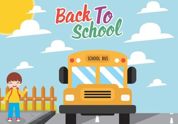 Free Vector School Bus Flat Design - vector gratuit #162241