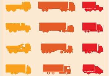 Trucks Silhouettes Set - vector gratuit #162341