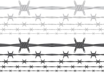 Barbed Wire Vectors - бесплатный vector #162421