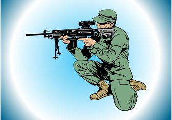 Aiming Soldier - vector gratuit #162451