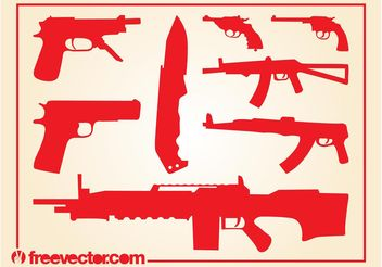 Weapons Vectors - Free vector #162461