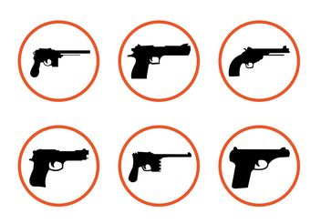 Various Gun Shapes - vector gratuit #162501