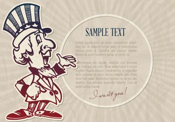 Free Vector Cartoon Uncle Sam - бесплатный vector #162521
