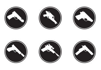 Gun Shapes Icons - Free vector #162541