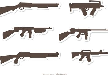Gun Set Vectors Pack 1 - vector gratuit #162551