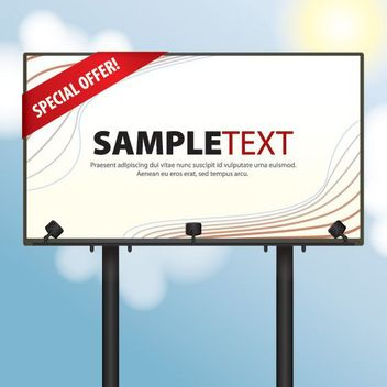 Roadside Billboard Day Sky - vector gratuit #162691