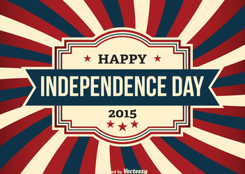 USA Independence Day Vintage Card - бесплатный vector #162701