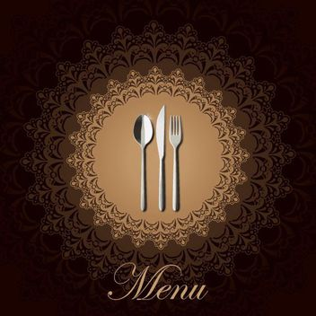 Decorative Ornate Event Menu - vector gratuit #162721