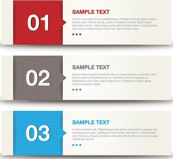 Multicolored Blocks Banner Set - Free vector #162741