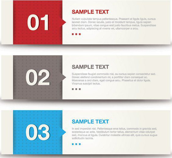 Multicolored Blocks Banner Set - vector gratuit #162741