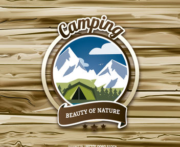 Camping badge - Free vector #162751