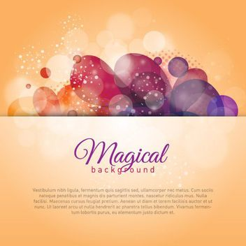 Shiny Magical Colorful Bokeh Background - Kostenloses vector #162791