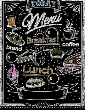 Chalk Restaurant Blackboard - vector gratuit #162821