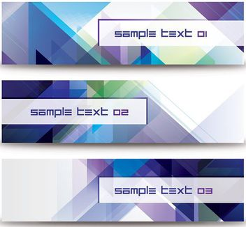 Abstract Diagonal Triangles Banner Set - vector gratuit #162851