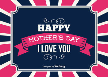 Mother's Day Vintage Greeting Card - Kostenloses vector #162911