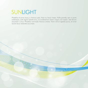 Sunlight Bubbles Waves Background - vector gratuit #162931