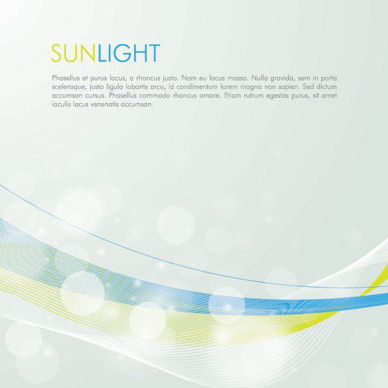 Sunlight Bubbles Waves Background - Free vector #162931