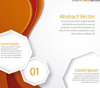 Orange curves text octagons - vector #162941 gratis