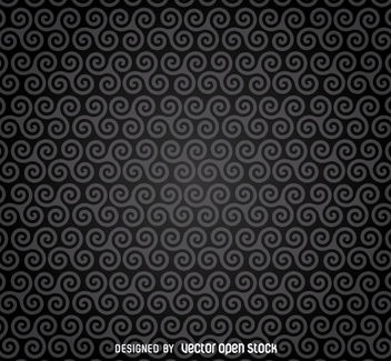 Dark spirals pattern background - vector gratuit #162971