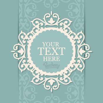 Decorative Floral Frame Invitation Card - Free vector #163021