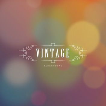 Vintage Ornamented Text Bokeh Background - vector gratuit #163061