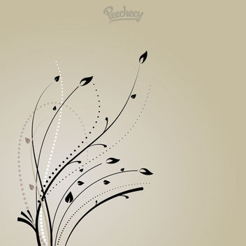 Curly Swirls Flouring Plant Background - Free vector #163071