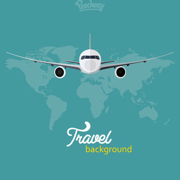 Air Travel on World Map Background - Free vector #163101