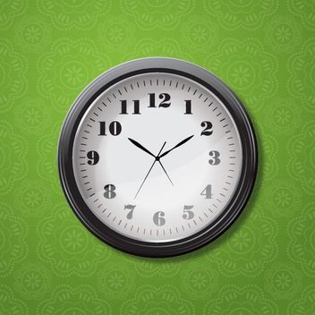 Simple Wall Clock Seamless Pattern - vector #163141 gratis