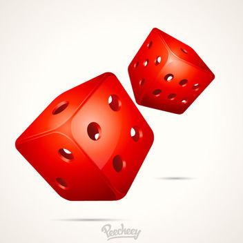 Glossy 3D Gambling Dices Background - vector gratuit #163181