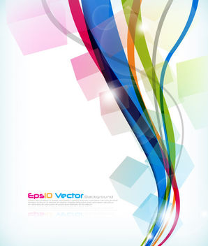 Vertical Waves with Cubes Colorful Background - Free vector #163261