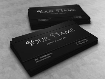 Dark Creative Lawyer Business Card - vector #163371 gratis
