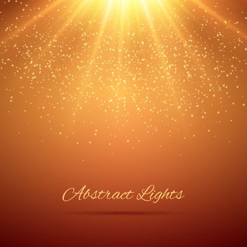 Glowing Sunshine Glittery Background - vector gratuit #163441