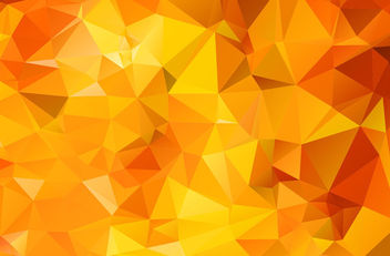 Orange Geometric Polygonal Triangle Texture - vector gratuit #163451